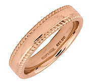 Simply Stacks Sterling 18K Rose Gold-Plated 4.25mm Ribbed Ring - J298130