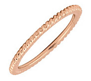 Simply Stacks 18K Rose Gold-Plated Sterling Ring - Rope Design - J298830