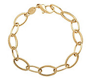EternaGold 8 Polished & Textured Link Bracelet, 14K, 7.2g - J307630