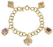 Arte dOro 8 28 ct tw Gemstone Charm Bracelet,18K - J309030