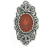 Artisan Crafted Sterling Ornate Design GemstoneRing - J309530