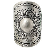 Novica Artisan Crafted Sterling Sunflower Blooming Ring - J310030