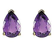 Pear-Shaped Gemstone Stud Earrings, 14K Gold - J314030