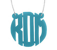 1-1/2 Acrylic Block Letter Monogram Necklace,Sterling - J315230