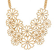 Joan Rivers Delicate Daisy 18 Bib Necklace w/ 3 Extender - J317630
