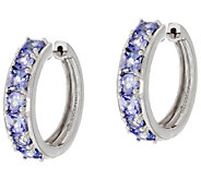 Multi-Cut Tanzanite Sterling 1 Hoop Earrings 1.50 ct tw - J319730