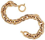 14K Gold 8 Polished & Textured Oval Rolo Link Bracelet, 17.1g - J321530