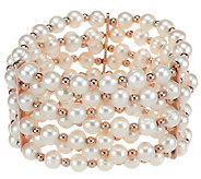 As Is Honora Cultured Pearl 7.0mm Average Bronze Stretch Bracelet - J321830