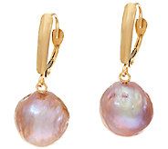 Honora 14K Gold 12.0mm Ming Cultured Pearl Lever Back Drop Earrings - J321930