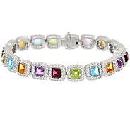 Judith Ripka Gemstone & Diamonique Small Bracelet - J323330