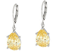 The Elizabeth Taylor Simulated Canary Diamond Drop Earrings - J323530