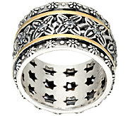 Or Paz Sterling Silver 14K Gold Crystal Spinner Ring - J324130