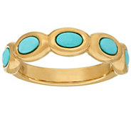 14K Gold Sleeping Beauty Turquoise Band Ring - J324730