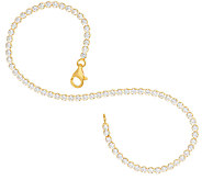 Diamonique Everyday Tennis Bracelet Sterling or 14K Clad - J326430