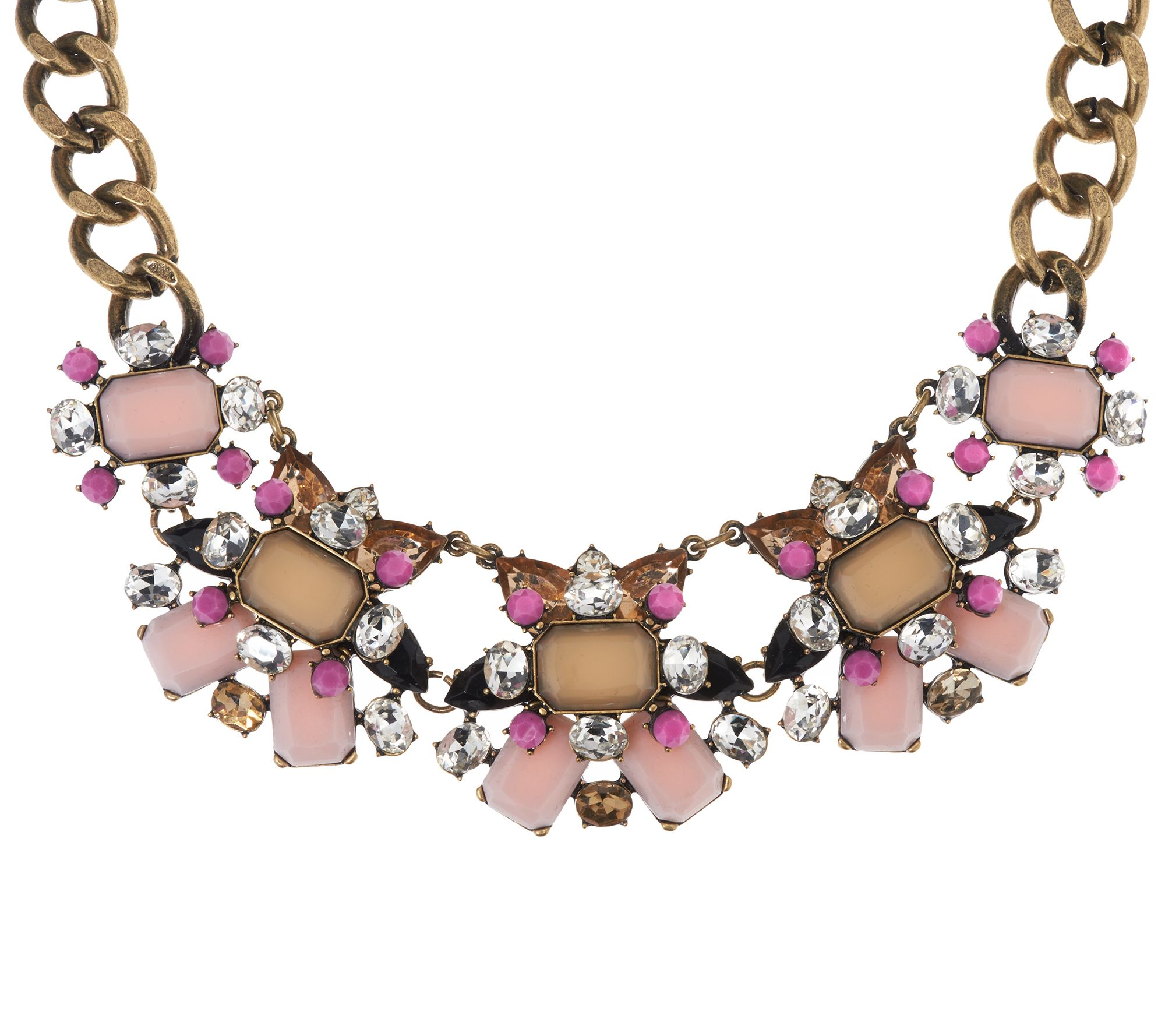 Joan rivers jeweled couture 18 statement necklace w 3 for Joan rivers jewelry necklaces