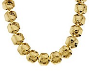 As Is Joan Rivers Classic Collar Style Hammered Link Necklace - J327830