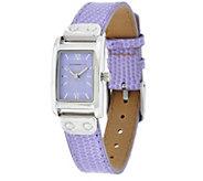 Isaac Mizrahi Live! Rectangular Dial Strap Watch - J329330