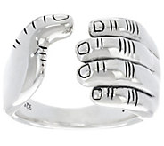 JAI Sterling Silver I Love Band Ring - J330430