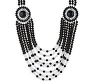 As Is Joan Rivers Tribal `Chic 24 Necklace w/ 3 Extender - J333130