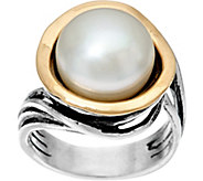 Sterling Silver & 14K Gold Cultured Pearl Ring by Or Paz - J333230