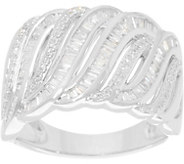 Baguette & Round Diamond Ring, Sterling, 1/2 cttw by Affinity - J345930