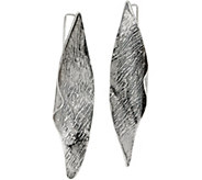 Or Paz Sterling Elongated Sculpted Earrings - J350230