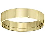 Mens 18K Yellow Gold 5mm Flat Wedding Band - J376730