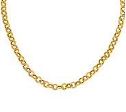 14K Yellow Gold Rolo Link Necklace, 14.5g - J378930