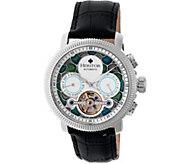 Heritor Automatic Aura Watch - Silvertone - J380330