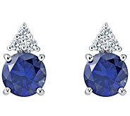 Sterling Silver 7mm Round Simulated Gemstone Earrings - J380930