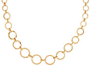 14K Gold 20 Graduated Circle Link Design Necklace, 6.9g - J289331