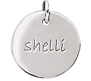 Posh Mommy Sterling Medium Disc Pendant - J300031