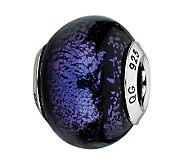 Prerogatives Sterling Purple Italian Murano Bead - J300131