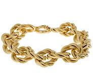 Arte d Oro 8 Bold Oval Link Bracelet, 18K, 21.40g - J300631