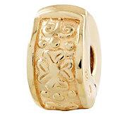Prerogatives Gold-Plated Sterling Hinged FloralDesignClip Bead - J302631
