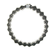Suspicion Sterling Marcasite 7-1/2 Geometric Bracelet - J304331