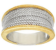 Judith Ripka Sterling & 14K Clad Two-tone Ring - J321731