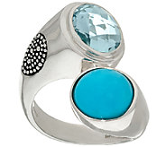 Michael Dawkins Sterling Turquoise & 3.25 ct Blue Topaz Ring - J323131