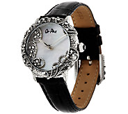 Stainless Steel Mother-of-Pearl Lace Design Watch by Or Paz - J323531