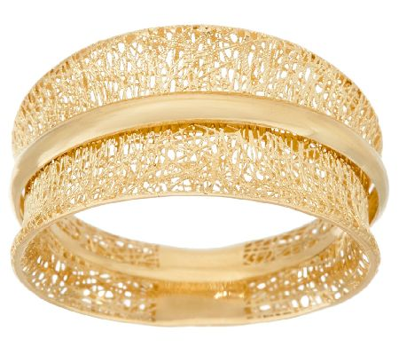 14k Gold Textured Spinner Ring By Adi Paz Page 1 Qvc Com