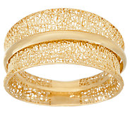 14K Gold Textured Spinner Ring by Adi Paz - J324131