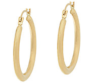 14K Gold 7/8 Round Tube Hoop Earrings - J324431