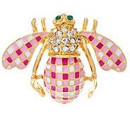 Joan Rivers Gingham Bee Pin - J327731