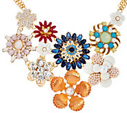 As Is Joan Rivers Floral Fantasy 17 Statement Necklace w/Ext. - J329031