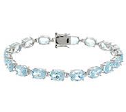 Semi-Precious Gemstone Sterling 8 Tennis Bracelet 19.00 cttw - J329431
