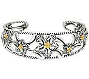 As Is Carolyn Pollack Sterling/Brass Desert Rose Cuff Bracelet - J333131