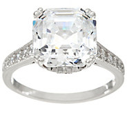 Diamonique 6.00 cttw Asscher Cut Ring, Sterling - J334931