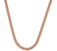 As Is Bronze 24 Polished Byzantine Necklace by Bronzo Italia - J335531