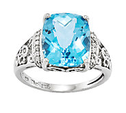 Sterling Choice of Rectangular Cushion-Cut Gemstone Ring - J336631