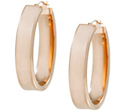 Arte dOro Polished Bold Oval Hoop Earrings, 18 K - J337031